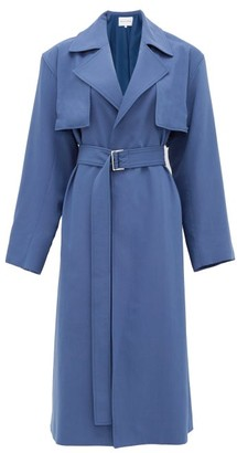 Michelle Waugh - The Carina Oversized Cotton-blend Trench Coat - Blue