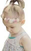 Aurora Bridal Infant Baby Hemp Hairband Flower Crown Headband Photography Props