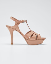 Saint Laurent Tribute Patent Leather 105mm Sandals