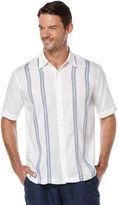 Cubavera Short Sleeve Linen Vertical Stripe
