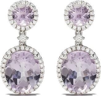 Kiki McDonough 18kt white gold Signatures lavender amethyst and diamond earrings