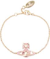 Vivienne Westwood Brianna Gold-Tone Crystal And Enamel Bracelet