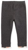 Burberry Penny Stretch Jersey Leggings, Gray, Size 6M-3Y