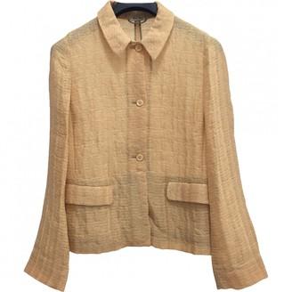 Miu Miu Beige Synthetic Jackets