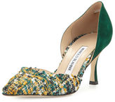 Manolo Blahnik Taylerbi Tweed d'Orsay 70mm Pump