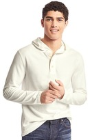 Gap Soft pullover hooded henley