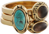 Barse FINE JEWELRY Art Smith by Turquoise & Smoky Quartz Stack Ring