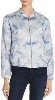 Paige Flo Bomber Jacket in Tie-Dye Silk - Rosie HW x