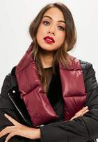 Missguided Burgundy Padded Scarf