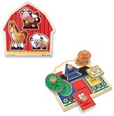 Melissa & Doug Infant Farm & Shape Jumbo Knob Puzzles