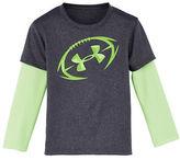 Under Armour Boys 2-7 Heathered Slider Sleeve T-Shirt