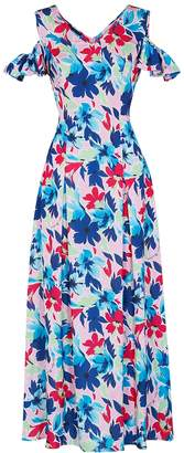 Moschino Floral-print Satin Maxi Dress