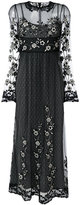 RED Valentino embroidered tulle dress - women - Polyester - 40