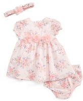 Little Me Infant Girl's Blossoms Dress, Headband & Bloomers Set