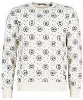 Scotch & Soda Scotch Soda CREWNECK SWEAT WITH LOGO ALL-OVER PRINT men's Sweatshirt in White