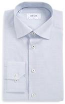 Eton Men's Slim Fit Microcheck Dress Shirt