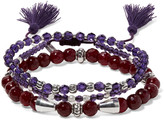 Chan Luu Set of three beaded bracelets