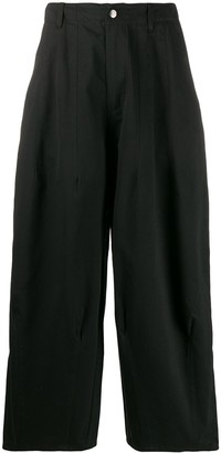 Societe Anonyme Tapered Wide-Leg Trousers