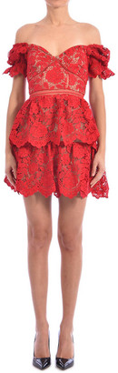 Self-Portrait Self Portrait Floral Lace Minidress