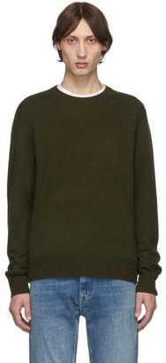 Rag & Bone Green Cashmere Haldon Crewneck Sweater
