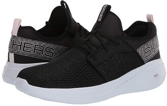Skechers Go Run Fast - Glimmer (Black/Mauve) Women's Running Shoes