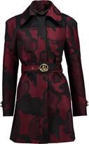 Just Cavalli Belted jacquard coat