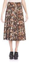 Bottega Veneta Camo-Print Midi Skirt