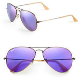 Ray-Ban Original Classic Aviator Sunglasses-ARISTA GOLD/PINK MIRRORED LENSES (001/3E)