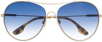 Victoria Beckham Oversized Round Sunglasses