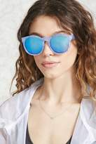 Forever 21 FOREVER 21+ Mirrored Ink-Cloud Sunglasses