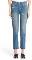 Amo Women's 'Babe' Released Hem Crop Jeans