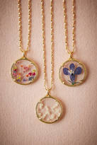 Anthropologie Pressed Flower Necklace