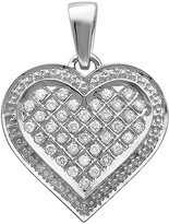 DazzlingRock Collection 0.75 Carat (ctw) 10K White Gold Diamond Ladies Heart Pendant 3/4 CT