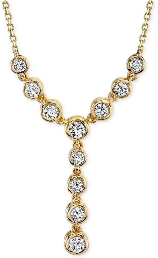 Sirena Energy Diamond Lariat (1/2 ct. t.w.) Necklace in 14k White or Yellow Gold