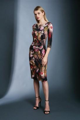 Karen Millen Slinky Rouched Midi Jersey Dress