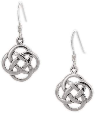 Celtic Serpentina Silver Five-Fold Knot Earrings