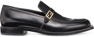 Fendi smooth FF detail loafers