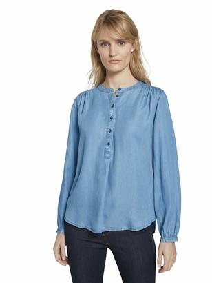 Tom Tailor Women's Denim Blouse Blue (10110-Blue 20