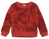 Paul Smith Orange Leaf and Dinosaur Print Sweater