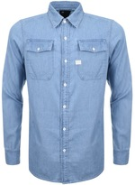 G Star Raw Landoh Denim Shirt Blue