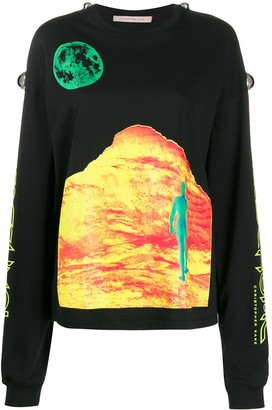 Christopher Kane Mountain Lady long-sleeve T-shirt