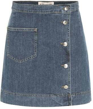 ALEXACHUNG 1976 Denim Miniskirt