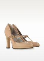 Marc Jacobs Distressed Dune Leather Mary Jane Pump