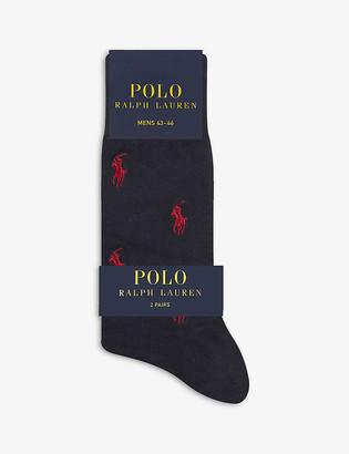 Polo Ralph Lauren Logo-pattern cotton-blend socks set of 2