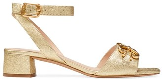 Kate Spade Lagoon Heart Chain Metallic Leather Sandals