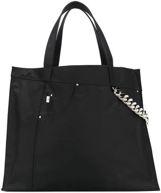 Kara Chain-Detail Shopper Tote