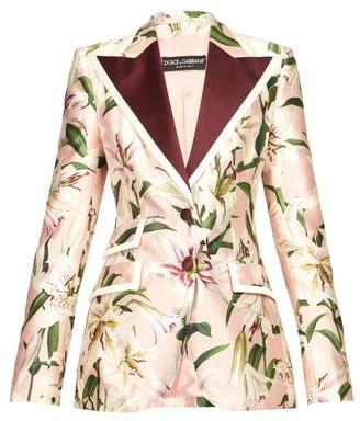 Dolce & Gabbana Single-breasted Floral-print Shantung Blazer - Pink Multi
