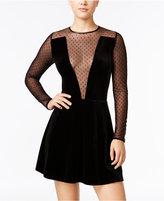 XOXO Juniors' Velvet Illusion A-Line Dress