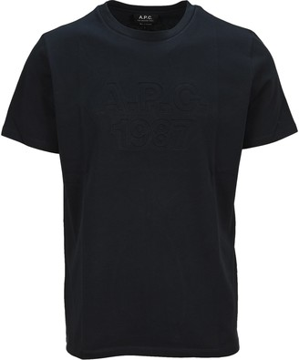 A.P.C. Logo Embossed T-Shirt