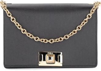Furla Model Mimi S Shoulder Bag In Black Leather